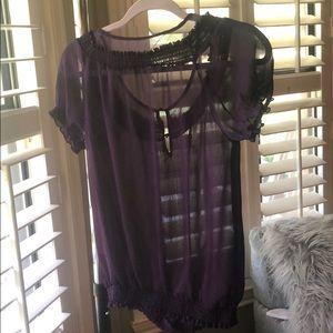 Express Tops - Express sheer purple purple top